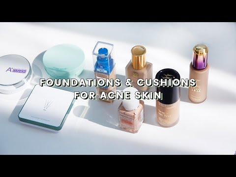 Foundations & Cushions for Acne Prone Skin • Review, Demo, Worth it or Not?