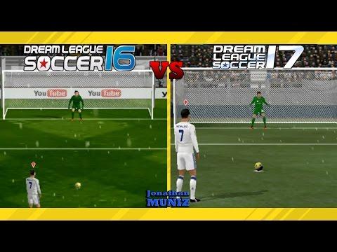 COMPARACIÓN -Penalti Y Celebración Dream League Soccer 16 Vs Dream League Soocer 17 DLS 16 Vs DLS 17
