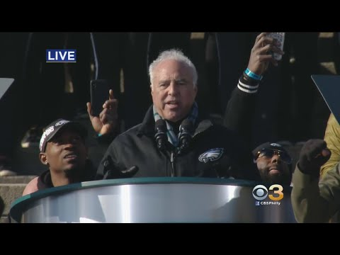 Jeffrey Lurie Speaks At Eagles Championship Ceremony