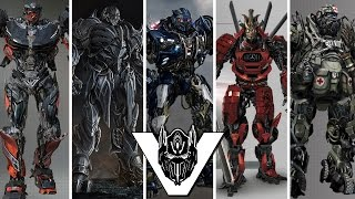 transformers 5 robot cast designs megatron barricade drift hound hot rod more 2017