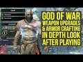 God Of War Armor Crafting Weapon Upgrades EVERYTHING YOU NEED TO KNOW God Of War 4 God Of War 5 mp3