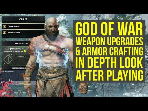 God of War WEAPON UPGRADES & ARMOR CRAFTING In Depth Look & Explained God of War 4  God of War 5