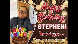 HAPPY 40TH BDAY SIR STEPHEN ESBER