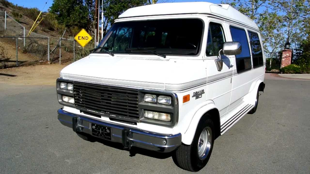 Chevrolet G20 Conversion Van Explorer Limited Vandura Like RV With Bed Travel Light