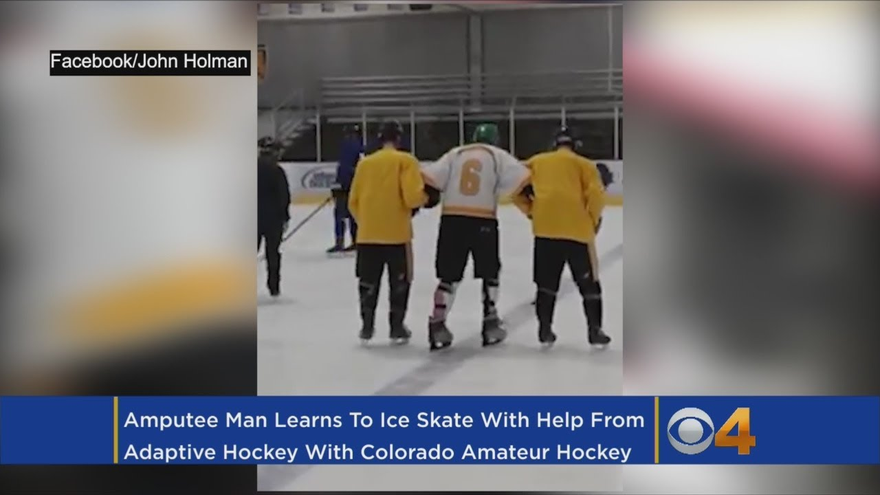 Amputee Learns To Ice Skate With Help From Colorado Amateur Hockey Association