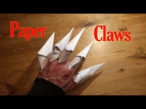 How to make Paper Claws Easy Origami