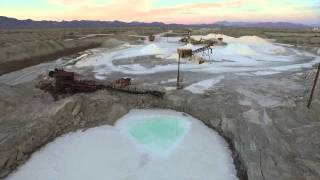 Salt Mining at Bristol  Dry Lakebed Outside of Amboy CA