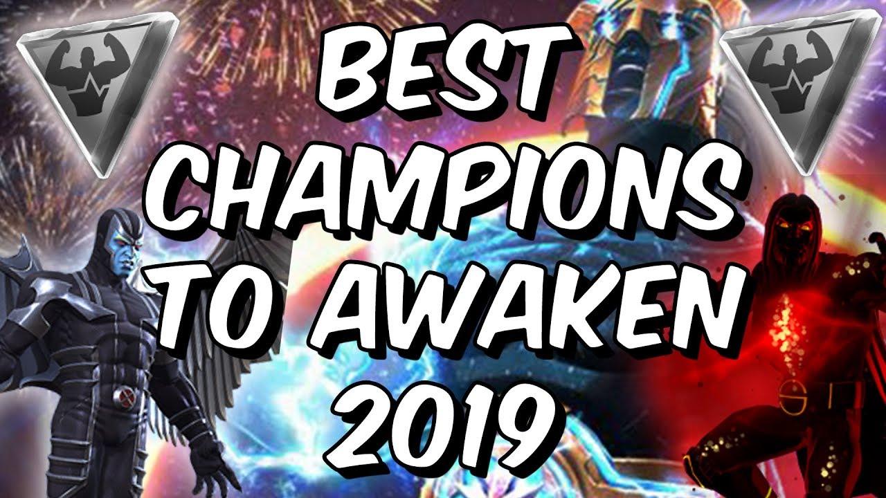 Mcoc Best 5* Champs 2019 Best Champions To Awaken 2019   Awakening Gem Guide   Marvel
