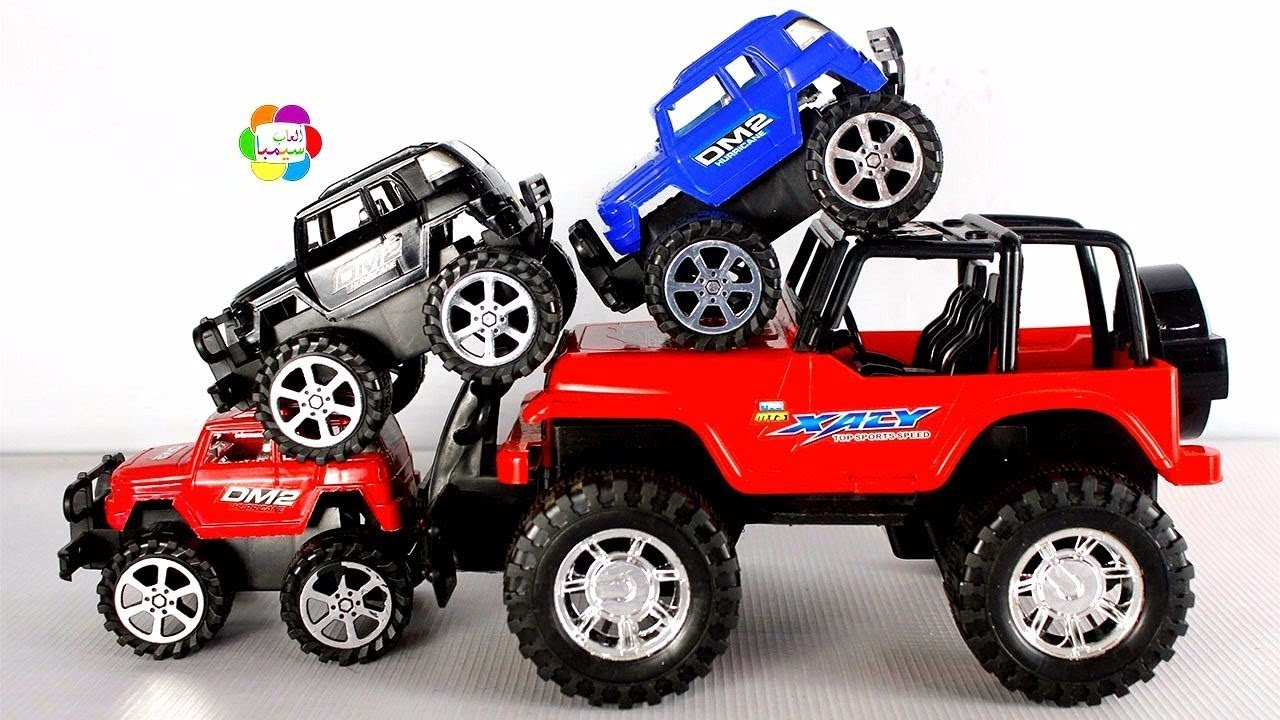 لعبة السيارة الجيب الحمراء الحقيقية الجديدة للاطفال وبناتها واجمل