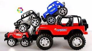 لعبة السيارة الجيب الحمراء الحقيقية الجديدة للاطفال وبناتها واجمل العاب سيارات الاطفال العاب العرائس