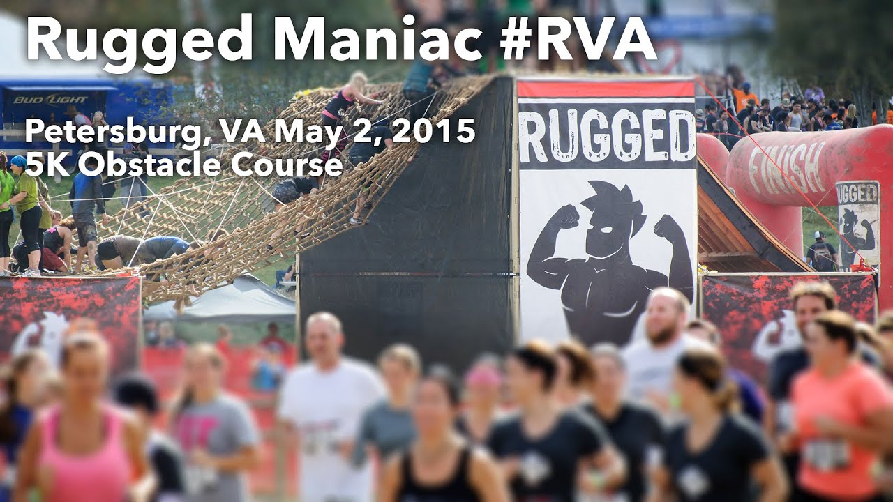 Rugged Maniac 5K Mud Run Petersburg, VA Obstacle Course RVA   YouTube