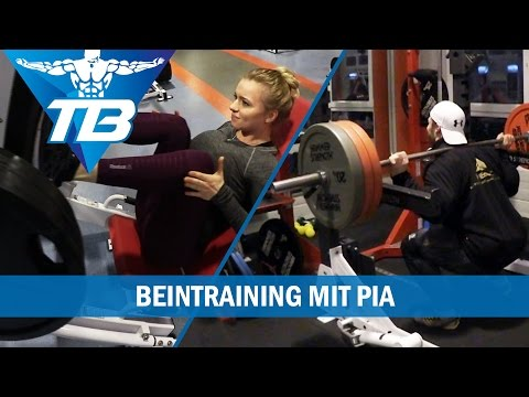 Beintraining / Frontsquats / mit Pia