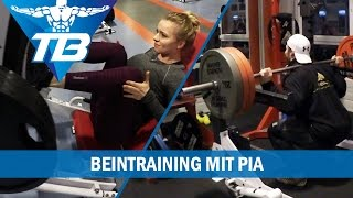 Beintraining / Frontsquats / mit Pia