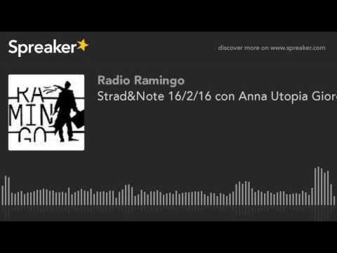Strad&Note 16/2/16 con Anna Utopia Giordano + Un Artista Minimalista