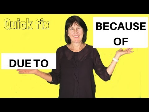 DUE TO or BECAUSE OF? - English Grammar Lesson
