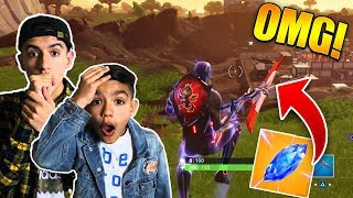 10 Year Old Little Brother Plays The *NEW* Fortnite Season 4 Update! (Meteor)