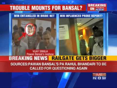 Trouble mounts for Pawan Kumar Bansal
