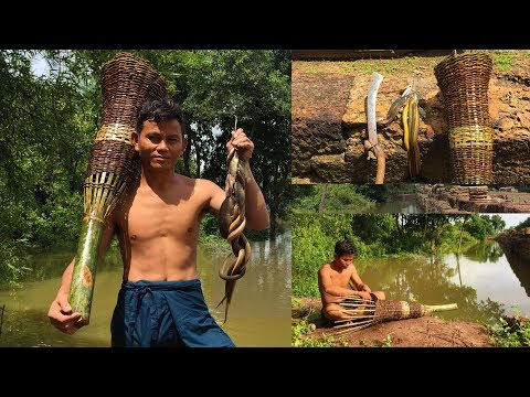 Primitive Amazing Video - Building Freshwater Fish & Eel Trap By The Best Bamboo