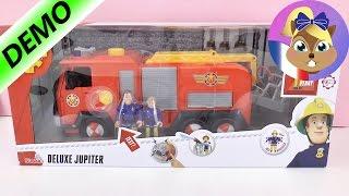 Pompier Sam Vidéo en français - ça brûle! Camion de pompier DELUXE JUPITER avec Penny - Démo
