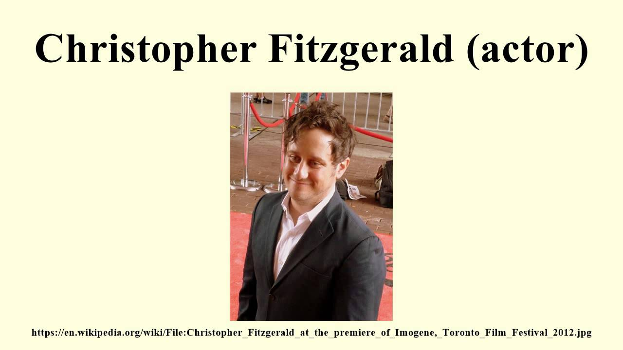 Christopher Fitzgerald actor YouTube
