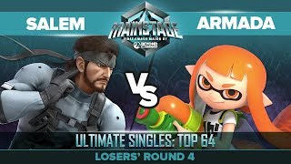 Gambar cover Salem vs Armada - Losers' Round 4: Ultimate Singles Top 64 - Mainstage   Snake vs Inkling