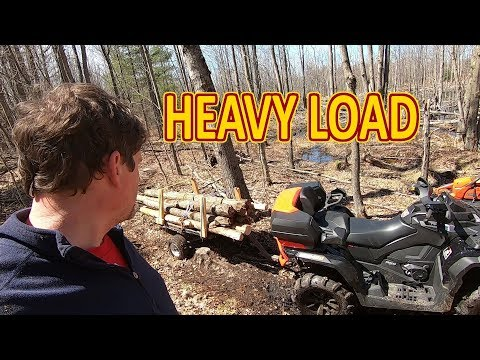 Testing The New Can-Am ATV/Quad Under Heavy Load