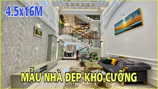 Bán nhà Gò Vấp 627   Trải nghiệm mẫu nhà 4.5m x 16m 3.5 lầu cực đẹp tặng nội thất mới nhất ở Gò Vấp