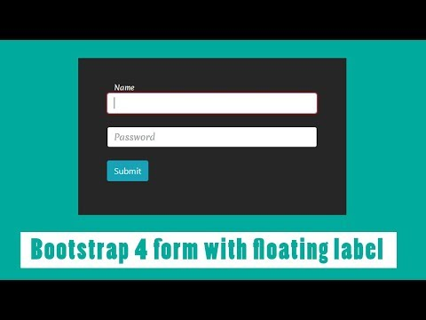Simple Bootstrap 4 form with floating label | Login Form with floating Placeholder Text