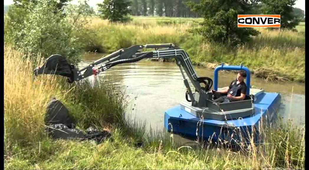 Conver C550 Compact Amphibious Excavator Youtube