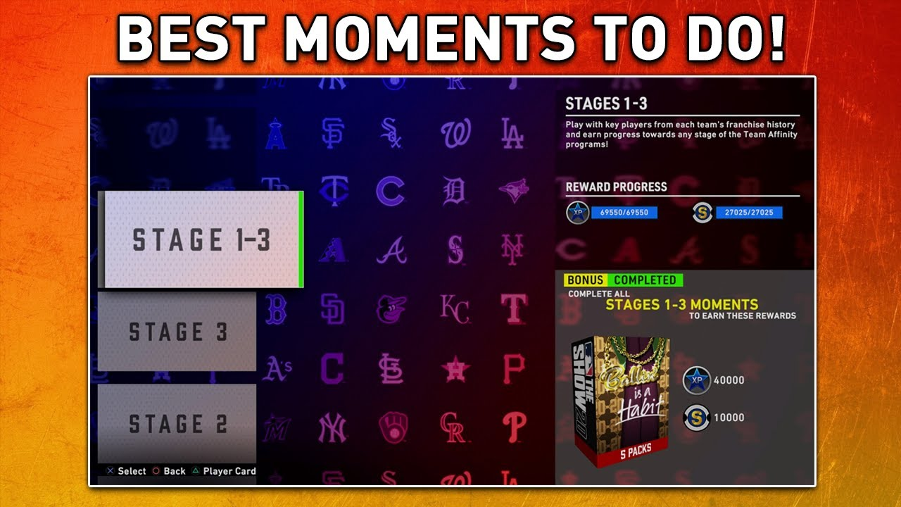 All Moments Complete. Which Are the Best Ones? MLB The Show 20 Diamond Dynasty