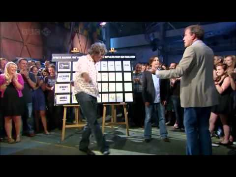 James May victory dance