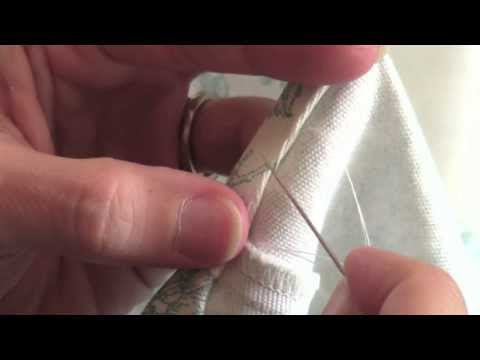 How to Hem a Dress by Hand Using the Blind Stitch (blind hem)