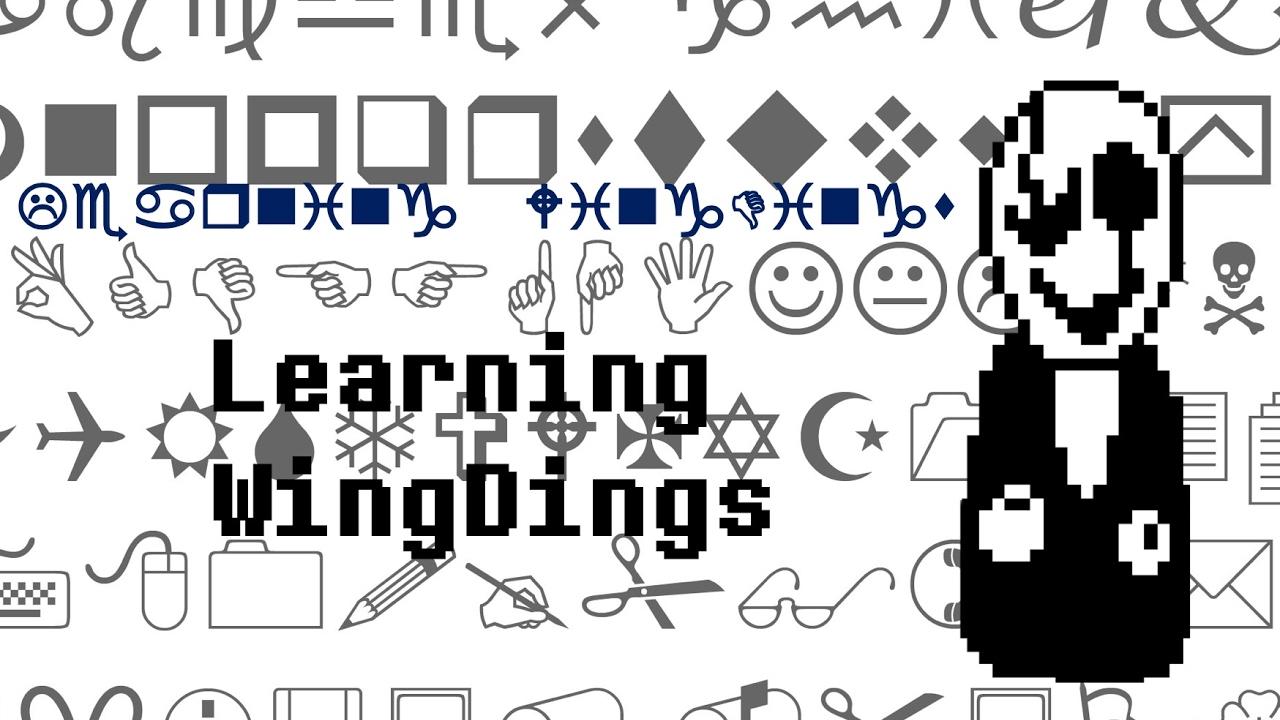 Learning wingdings language font youtube learning wingdings language font buycottarizona