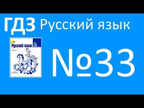 ГДЗ по русскому языку, Ладыженская 5 класс, упражнение 33