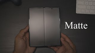 Matte Screen Protector for Samsung Z Fold 2 5G Review