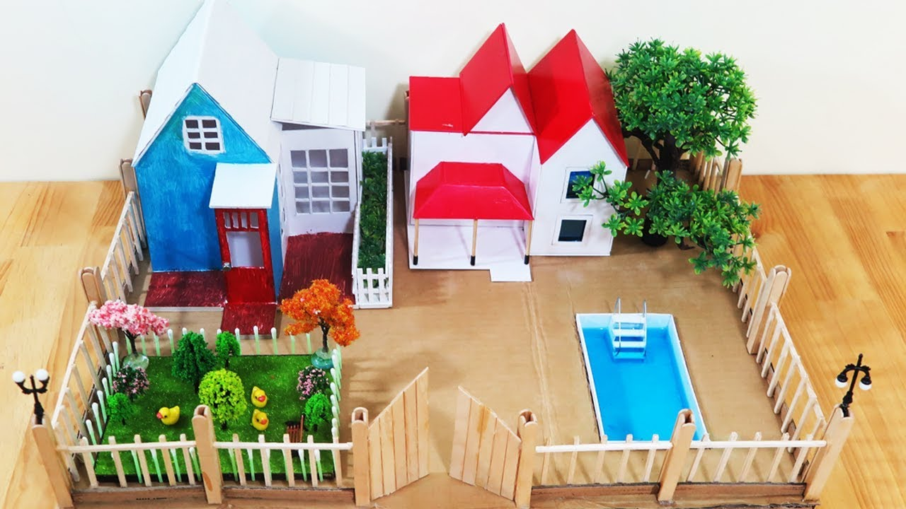 How to make beautiful dream house project for kids youtube for Dream house 3d