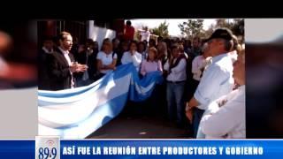 Video: Así fue la reunión entre productores y gobierno