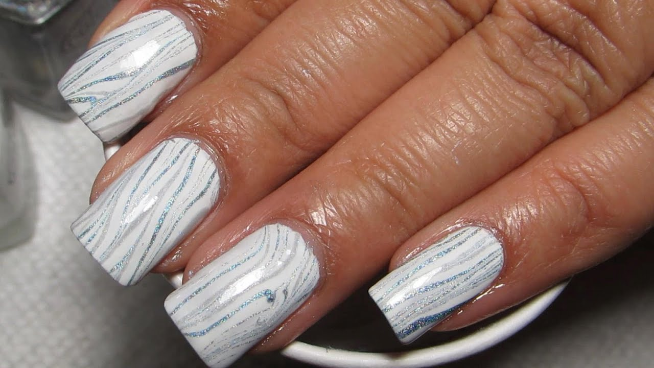 Melting Ice Water Marble Nail Art Tutorial (Water Marble March 2014 ...