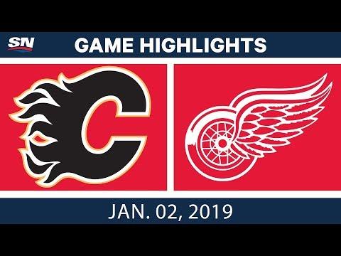 NHL Highlights   Flames vs. Red Wings - Jan. 2, 2019