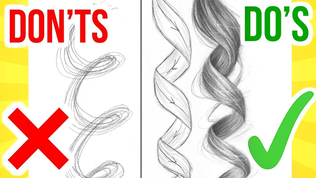 's & don'ts draw curly
