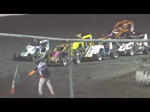 20 Laps - 1 #53j Jim Beck, 2 #3r Nick Robfogel, 3 #5k Kyle Grissom, 4 #88 Koen Shaw, 5 #11 Carroll Mendenhall, ,6 #8r Rob Brown, 7 #31 Sam Borland, 8 #24 ... - dirt track racing video image