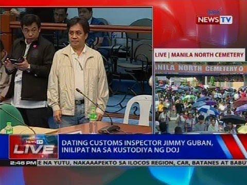 Dating customs inspector Jimmy Guban, inilipat na sa kustodiya ng DOJ