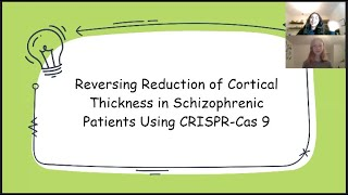 113 Reversing Reduction of Cortical Thickness in Schizophrenic Patients Using CRISPR Cas 9