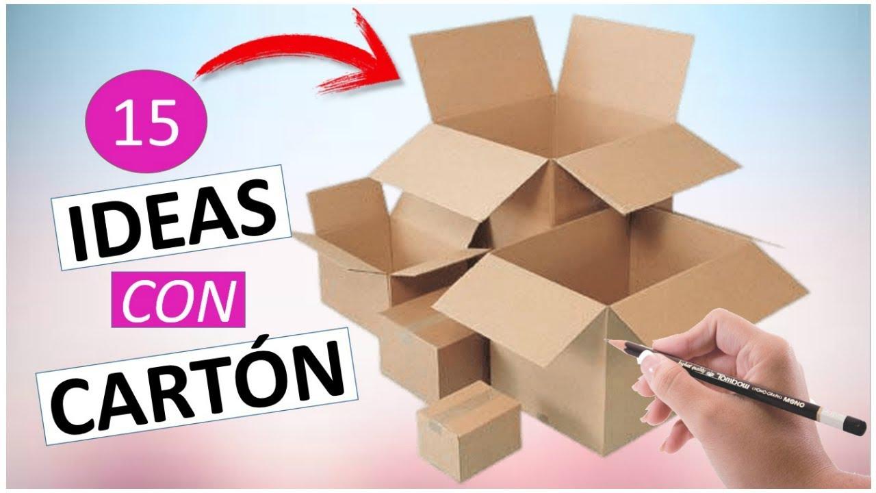 15 Manualidades Faciles Y Rapidas Con Carton Reciclaje Youtube