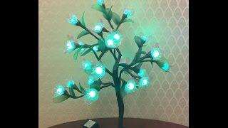 How to make nylon stocking flowers with LED light