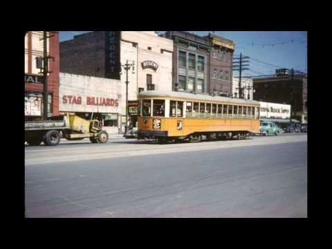 Vintage downtown WINNIPEG, Manitoba color photos