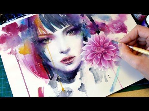 【WATERCOLOR PORTRAIT】 Bloom