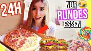 24 STUNDEN nur KREIS RUNDES ESSEN essen *Pizza, Donuts, Hamburger Challenge*