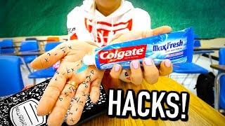 50 Weird Back to School life hacks EVERY student should know!
