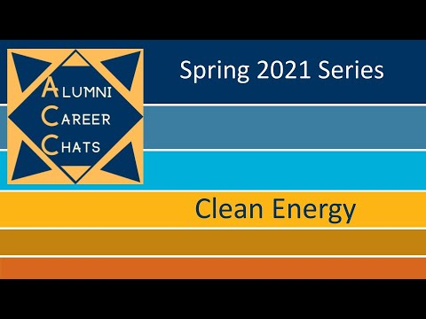 Alumni Career Chat- Clean Energy